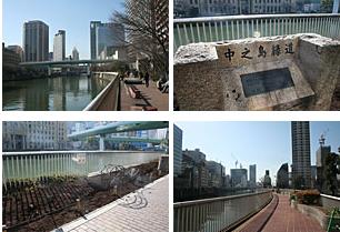 中之島遊歩道 ウォーキングマップ