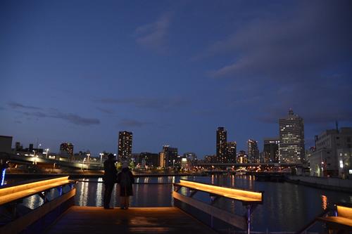 中之島漁港からの中之島の夜景