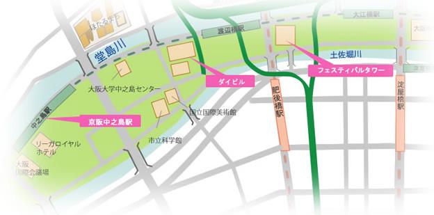 中之島散策 まるフェス2014 マップ