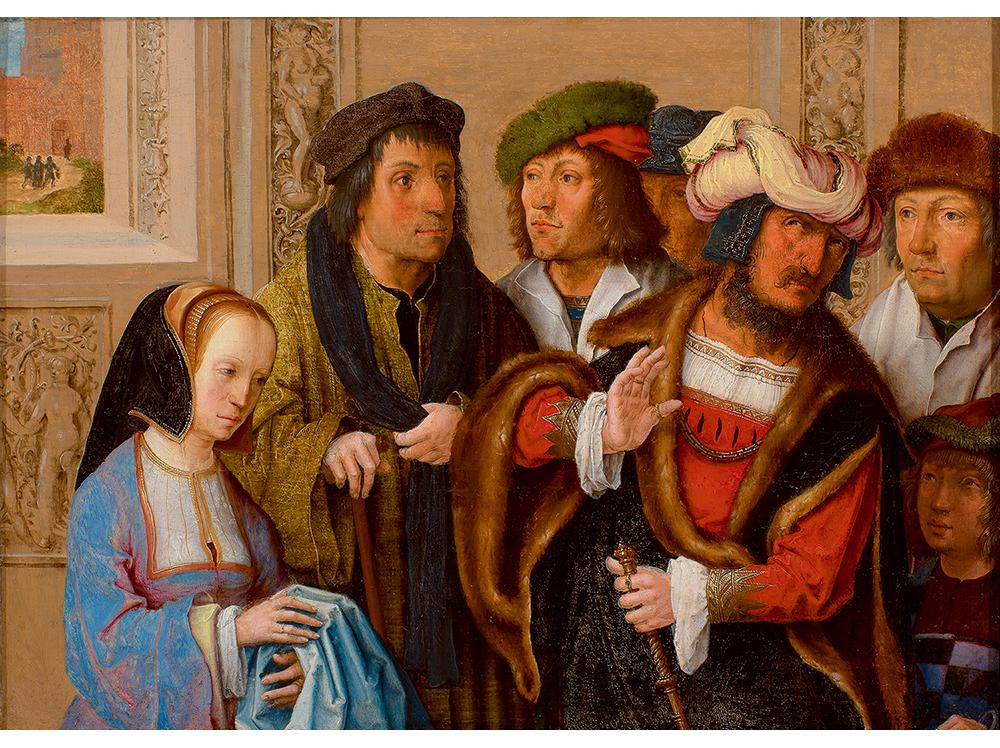 「ヨセフの衣服を見せるポテパルの妻」ルカス・ファン・レイデン / 1512年頃 / Museum BVB, Rotterdam, the Netherlands