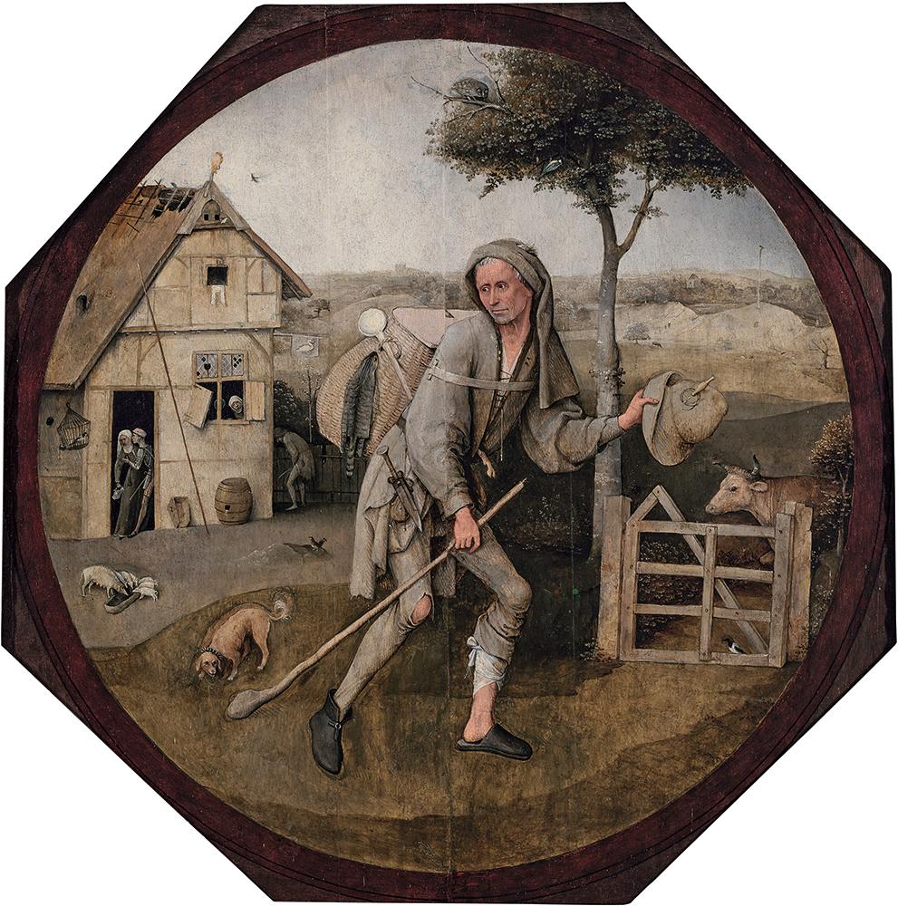 「放浪者(行商人)」ヒエロニムス・ボス / 1500年頃 / Museum BVB, Rotterdam,  the Netherlands