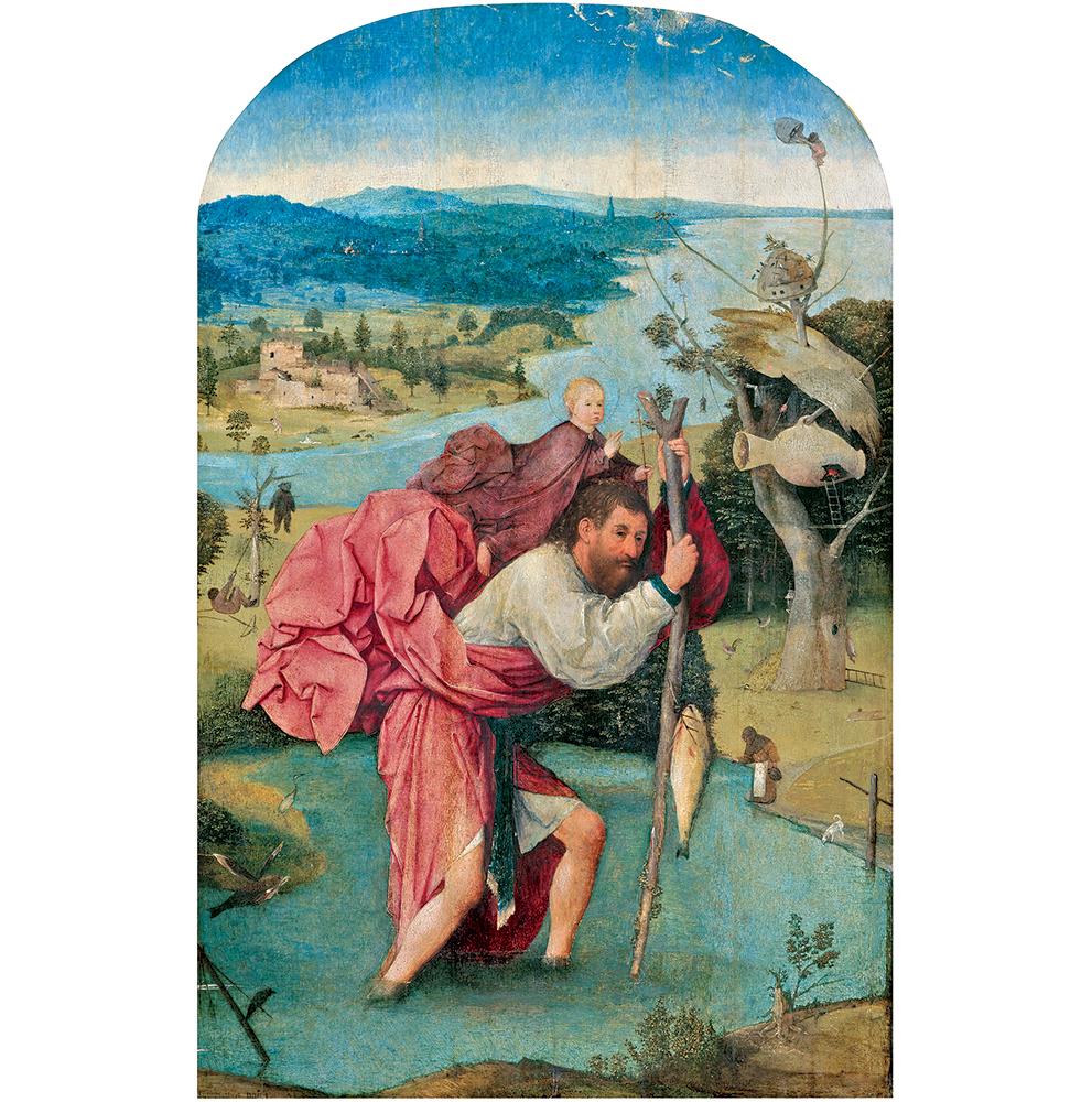 「聖クリストフォロス」ヒエロニムス・ボス / 1500年頃 / Museum BVB, Rotterdam,  the Netherlands(Koenigs Collection)