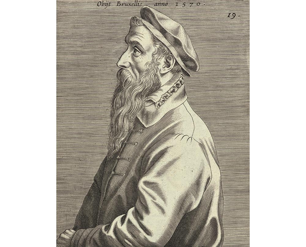 「ピーテル・ブリューゲル1世の肖像(部分)」ヨハネス・ウィーリクス / 1600年出版 / Museum BVB, Rotterdam, the Netherlands