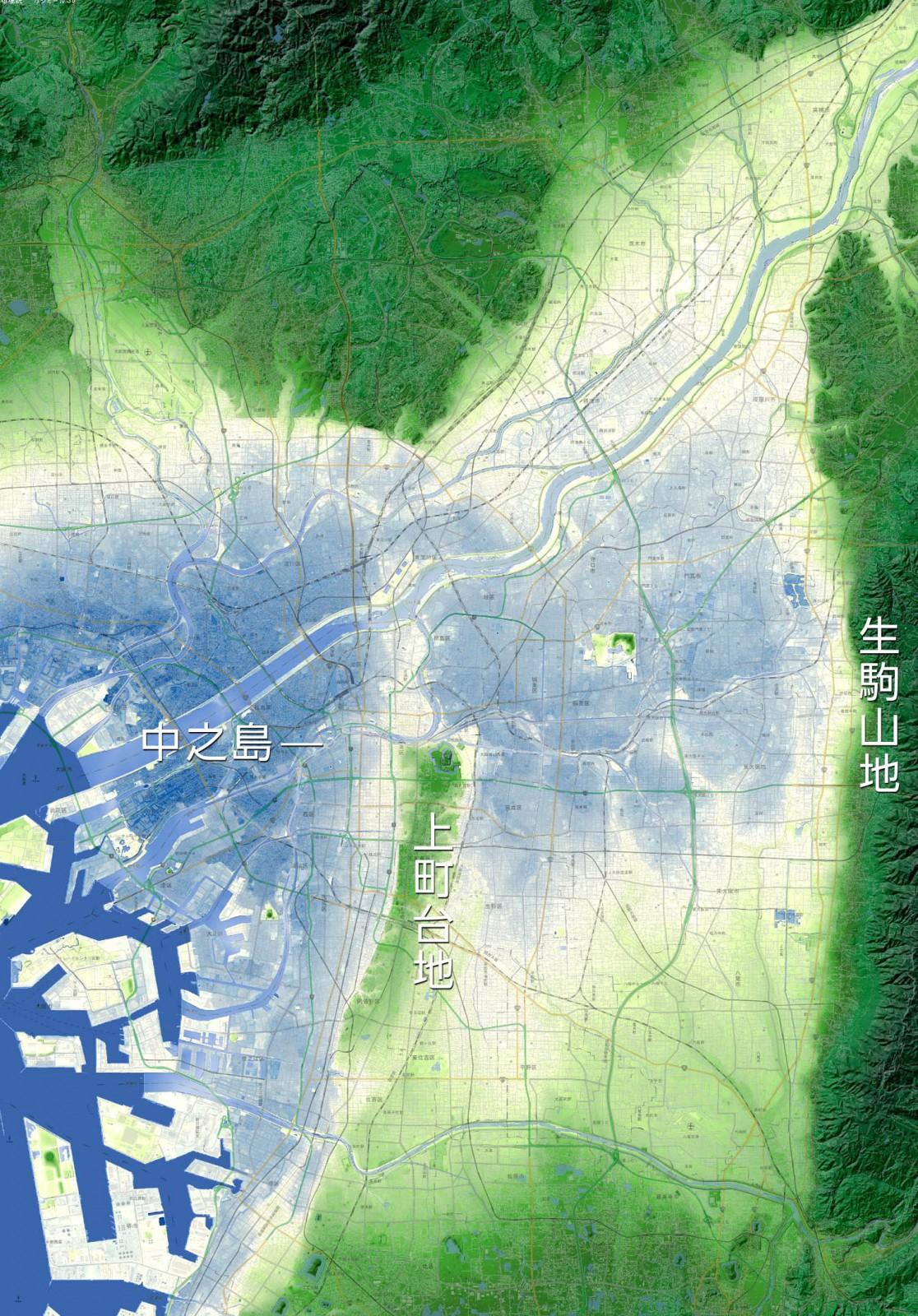 【参考】現在の地形図ー※ 地形図はカシミール3Dで 作成しています。