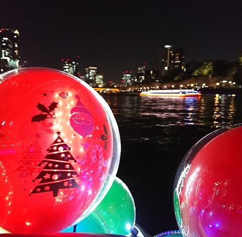クリスマスリバーライドで水上を滑走?