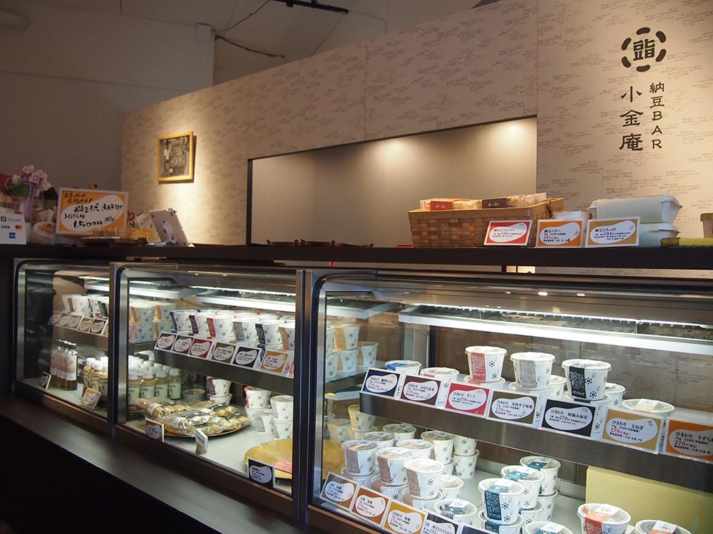 店内は、「納豆専門店」というより高級和菓子店の趣き。
