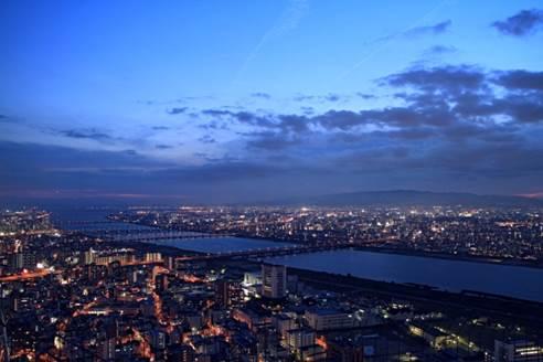 淀川河口域の景観。多くの砂州(島)が生まれた場所だが、明治時代の淀川改良工事で大きく景観が変わっている。