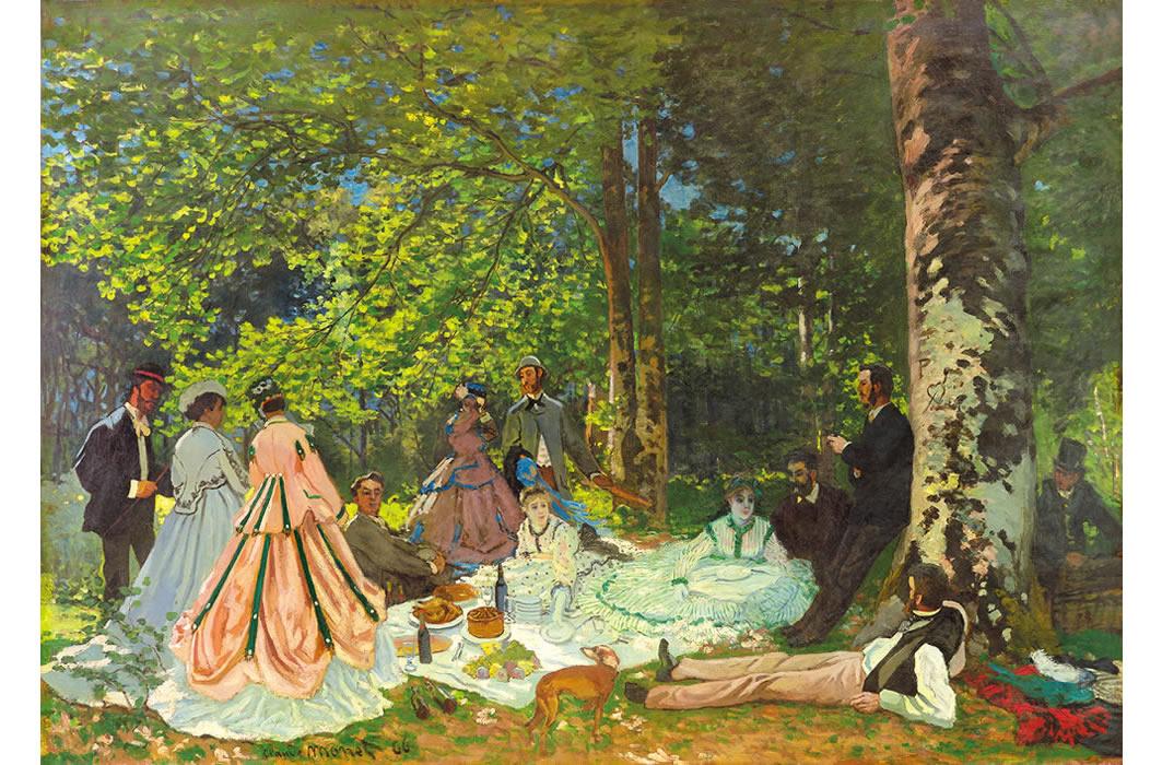 クロード・モネ《草上の昼食》1866年