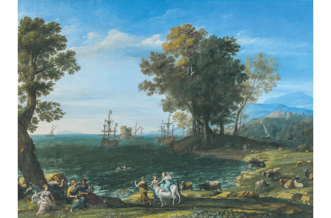 クロード・ロラン《エウロペの掠奪》1655年