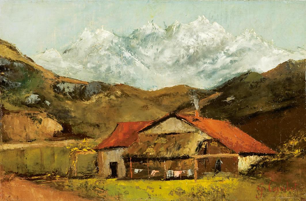 ギュスターヴ・クールベ《山の小屋》1874年頃