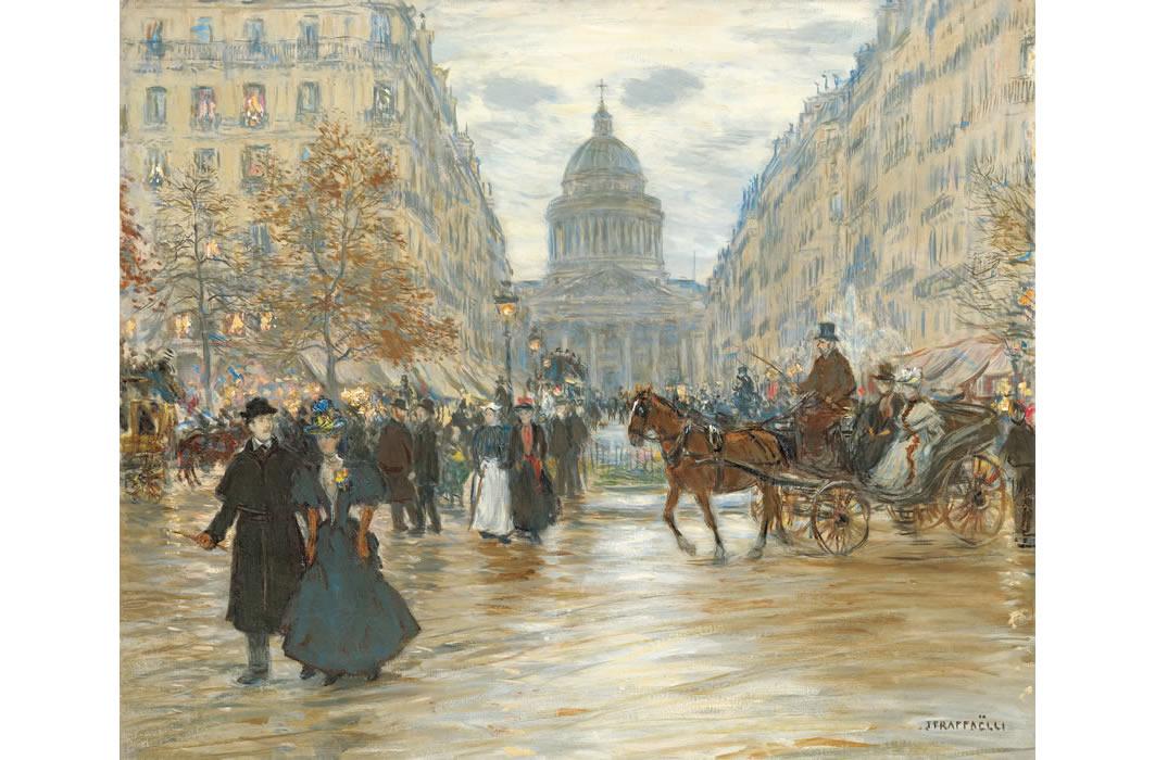 ジャン=フランソワ・ラファエリ《サン=ミシェル大通り》1890年代
