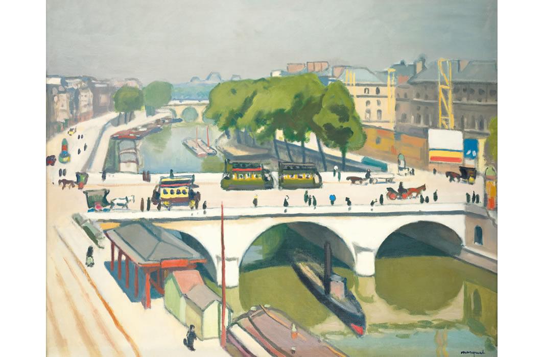 アルベール・マルケ《パリのサン=ミシェル橋》1908年頃
