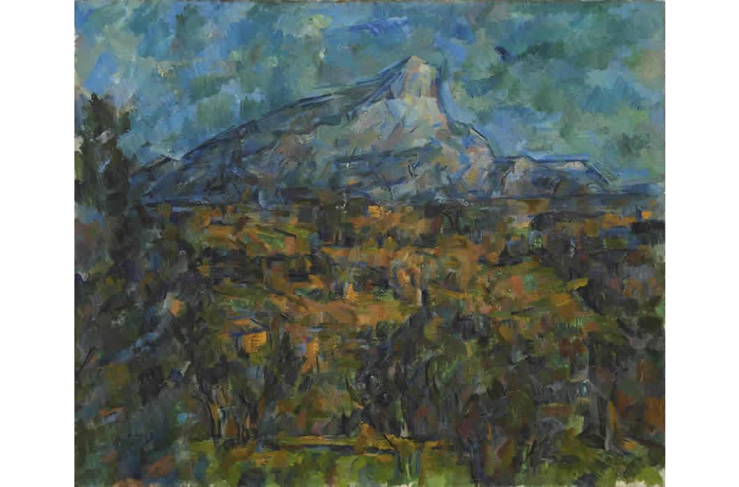ポール・セザンヌ《サント=ヴィクトワール山、レ・ローヴからの眺め》1905-06年