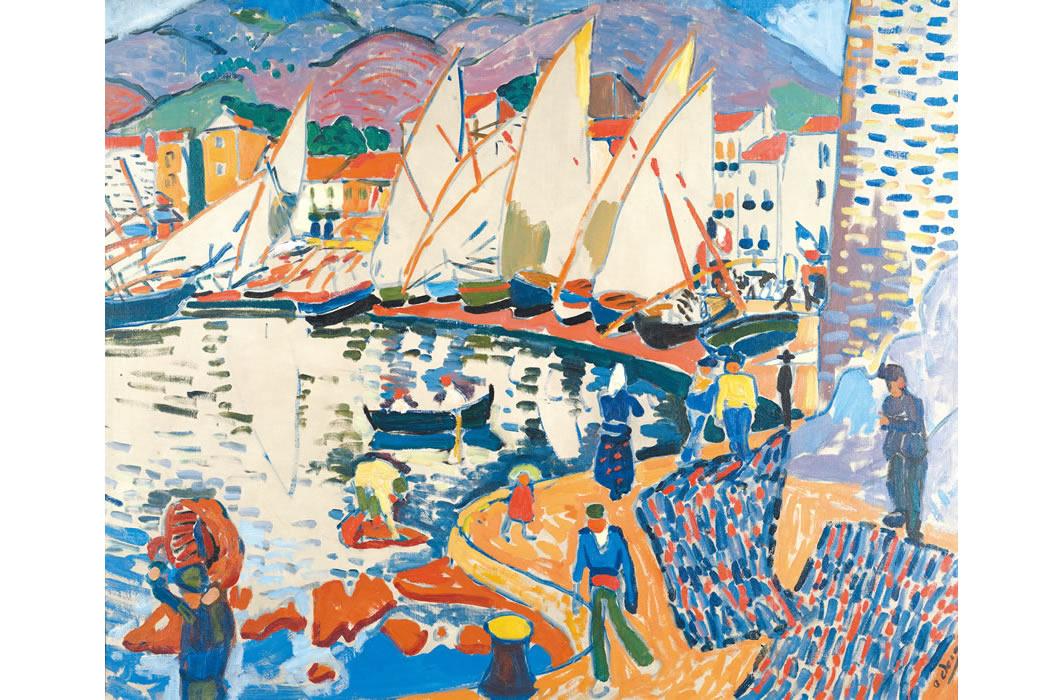 アンドレ・ドラン《港に並ぶヨット》1905年