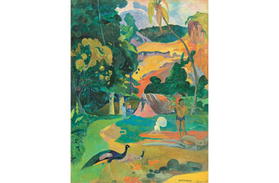 ポール・ゴーガン《マタモエ、孔雀のいる風景》1892年